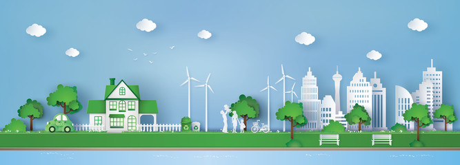 concept of eco friendly and save the earth