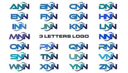 3 letters modern generic swoosh logo ANN, BNN, CNN, DNN, ENN, FNN, GNN, HNN, INN, JNN, KNN, LNN, MNN, NNN, ONN, PNN, QNN, RNN, SNN, TNN, UNN, VNN, WNN, XNN, YNN, ZNN,