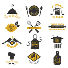 Coocking badge vector illustration.