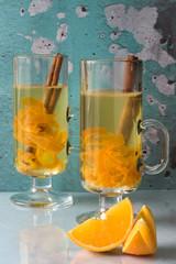 Orange citrus tea in Irish mugs