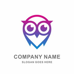 Owl Bird Mobile Phone Apps Cyber Security System Technology Computer Business Company Stock Vector Logo Design Template