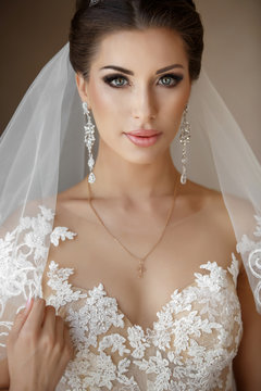 Beautiful arabian bride at wedding day