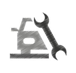 auto repair service isolated icon vector illustration design