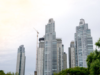 Skyscrapers in Puerto Madero neighborhood, Buenos Aires,