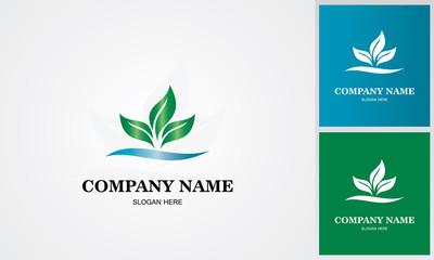 leaf water logo