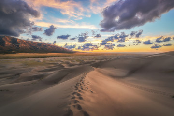 Great Sand Dunes Sunset in Colorado