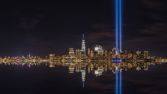 Manhattan Reflections during September 11th Memorial