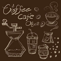 drawing coffee object