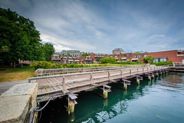 The Charles River waterfront in Charlestown, Boston, Massachuset