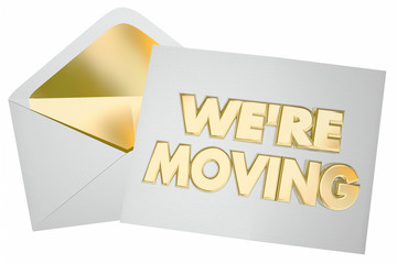 Were Moving Letter Note Envelope We Are at New Address 3d Illust