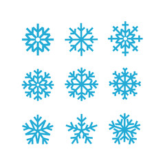 Different vector snowflakes collection. Vector ice crystal set i