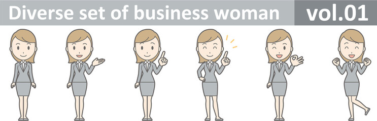 Diverse set of business woman , EPS10 vector format vol.01