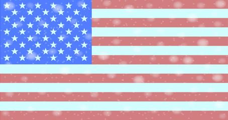 Snowflakes On Flag