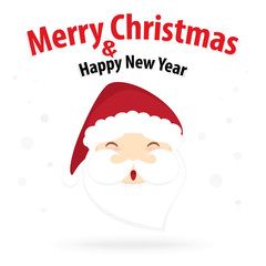 santa claus and snow theme, merry christmas and happy new year i