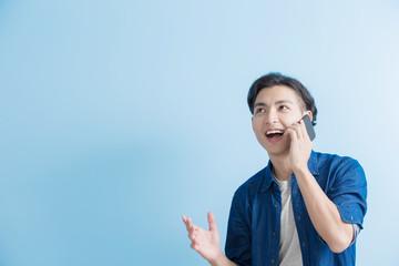 man student talk on phone