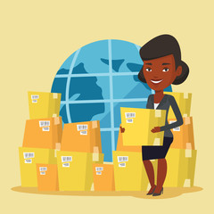 Business worker of international delivery service.