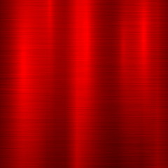 Wall Mural - Red metal abstract technology background with polished, brushed texture, chrome, silver, steel, aluminum for design concepts, web, prints, posters, wallpapers, interfaces. Vector illustration.