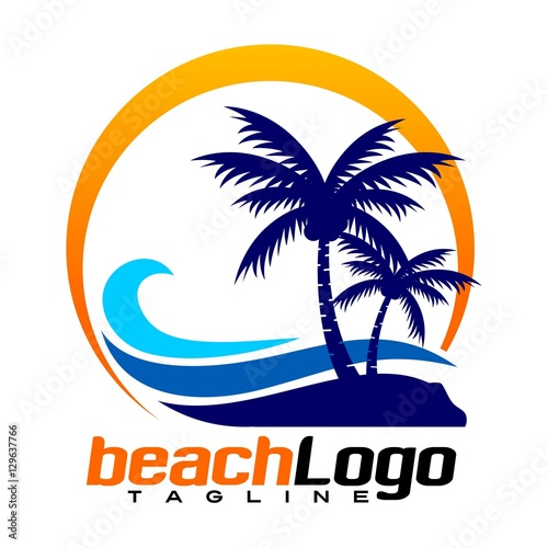 """beach vector logo"" Stock image and royalty-free vector ..."