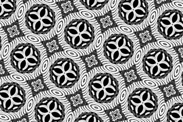 Black-and-white ornament with a gray tint. D