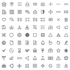 Grey web icon set