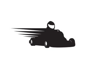 Gokart Racer Silhouette