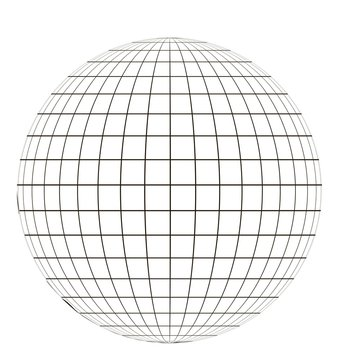 globe with grid