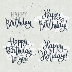 Set of celebratory labels birthday