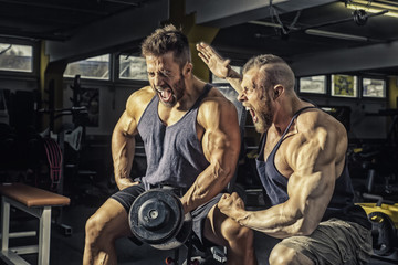two men at the gym
