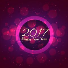 purple bokeh background for new year 2017 season