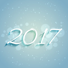 blue background with 2017 text for new year holiday