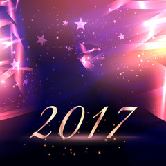 abstract stars background with 2017 new year text