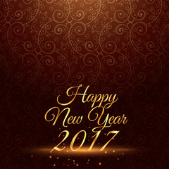 happy new year 2017 holiday greeting in vintage background