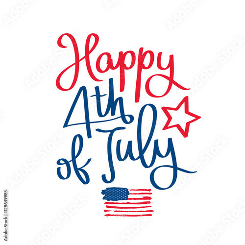 """Highlands Ranch July 4th Parade: """"Happy 4th Of July. The Trend Calligraphy"""" Stock Image And"""