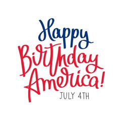 Fototapeta Happy Birthday America. 4th of July obraz