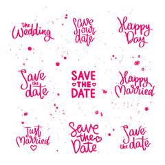 Set wedding quotes. Calligraphy