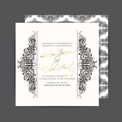 Wedding invitation or announcement card