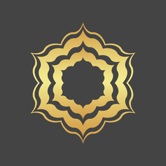 Abstract element for design, gold  decoration, frame