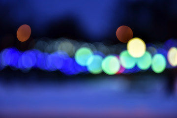 Abstract blurred lights picture city at night