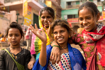 Cute Indian girls having fun