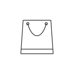 Store & shopping bag line icon, Modern sign for mobile interface