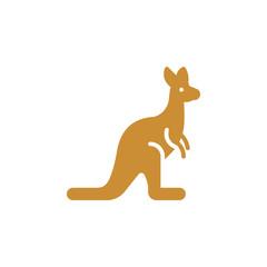 Kangaroo icon vector, filled flat sign, solid colorful pictogram isolated on white. Symbol, logo illustration