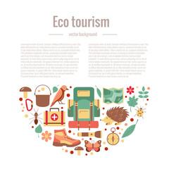 Ecotourism camping poster