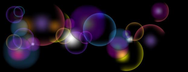 Vektor Hintergrund - leuchtende Kreise