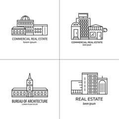 Set of real estate logo.
