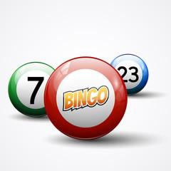 Lottery bingo balls, vector illustration