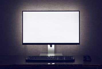 Blank monitor with backlight