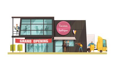 Fashion Boutique Illustration
