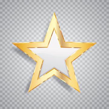 one gold white star