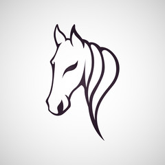 Horse logo vector icon design