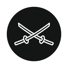 Japan sword katana icon isolated on white background
